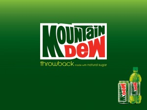 Mountain Dew - The throwback made with natural sugar...